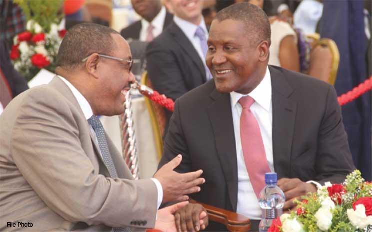 Aliko Dangote and Hailemariam Desalegn meet in Addis Ababa