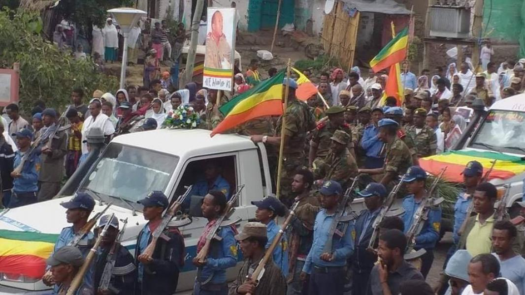 Gen  Asaminew Tsige laid to rest in Lalibela